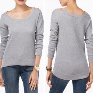 Michael Kors Silver Cold Shoulder Winter Sweater